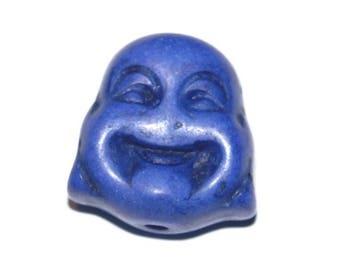 Buddha 1tetes blue howlite 20 X 15 mm