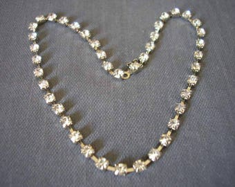 Chain 22 cm silver metal rhinestone