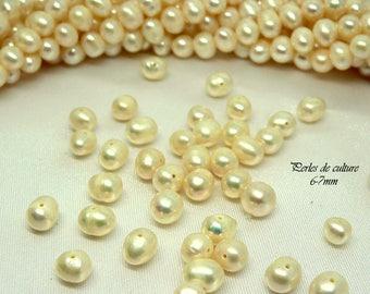 Cultured freshwater pearls sweet genuine Pearl 6-7 mm white AA grade