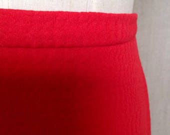 1960s Red Maxi Long Skirt