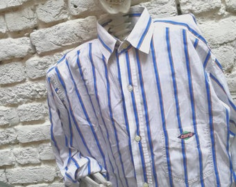 Shirt Vintage SNIPS with detachable collar and striped 90's