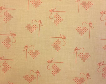 "1/2 yard Bee Basics by Lori Holt from Riley Blake 100% Cotton 43/44"" Wide C 6401"