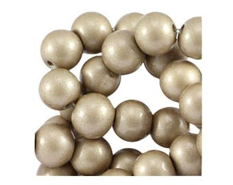 Set of 25 4 mm champagne glass beads