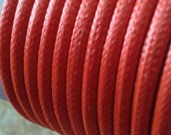 Orange 4mm leather cord