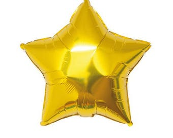 A gold foil balloon, 45cm star shape