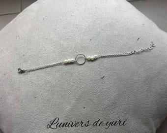 pearly white ring bracelet