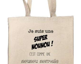 Tote bag to thank his nanny