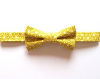 Bow tie adult yellow graphic