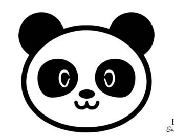 Panda cute kawaii flex fusible applique