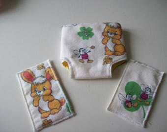 toiletries for 30 cm: 1 diaper and wipes 2 babies
