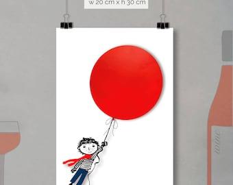 print - red balloon (20 x 30cm)