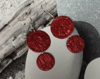 Earrings red nespresso duo