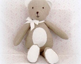 "Bear collection ""BERGAMOT"" Twine Monogram ""B"" (customizable)"