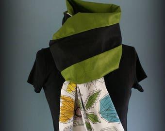 Etole  foulard  écharpe cheich Green Bazin