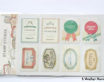 16 stamps for Scrapbooking Stickers