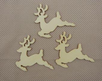 Wooden subjects embellishment: deer