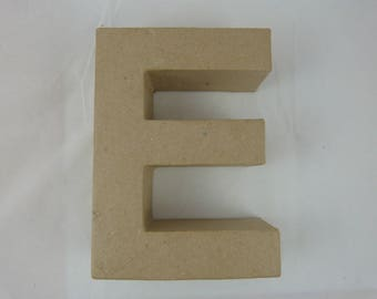 "3D decoration for home decor ""E"" letter"