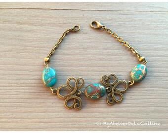 Art deco imperial jasper bracelet