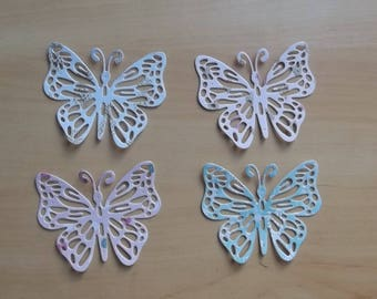4 cuts butterflies for your scrapbooking creations.