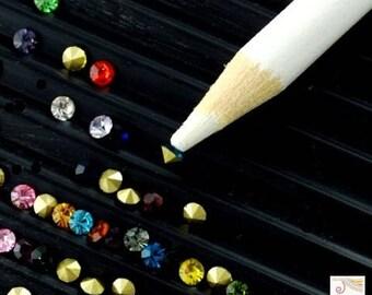2 pencils picks (ou36) Hotfix rhinestones