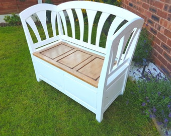 Solid wood monks bench/rest with storage