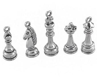5 pendants charm set of failure