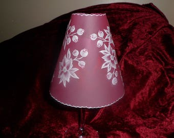 candle holder with glass base and candle decoration table