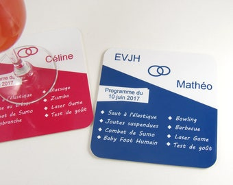 Souvenir EVJH EVJG coasters personalized coaster program EVJH table decoration