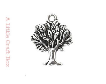 5 charm tree - antique silver