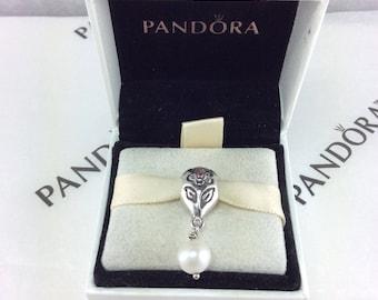 Pandora Retired Pink Pearl Bloom Dangle Charm #790546P