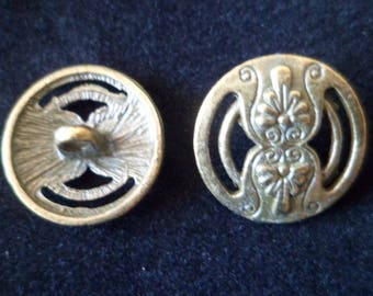 2 buttons 17 mm Bronze jacket like coats five shank