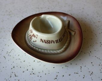 Nashville, Tennessee Cowboy Hat Ashtray