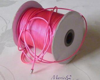 Wax wax 2 mm - Magenta fuchsia cord