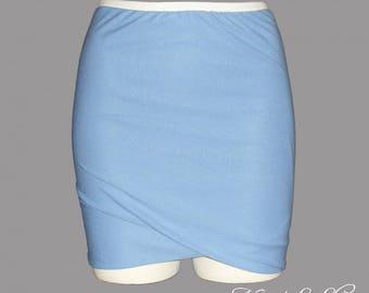 Draped skirt, lavender blue (custom)