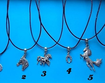 Horse pendant with free gift pouch choice of 1