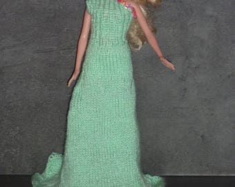 Doll clothes for Barbie, evening dress