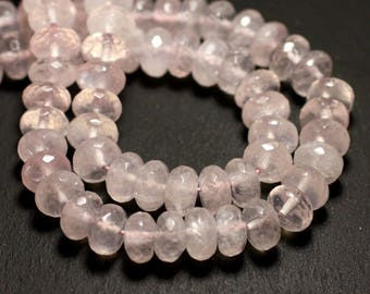 10pc - stone beads - faceted 10x6mm 4558550008541 Rose Quartz