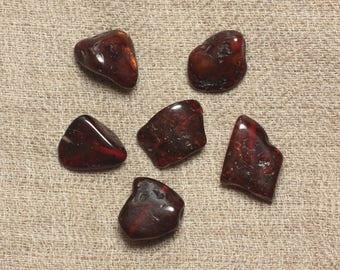 6PC - 10-14mm No. 120-12 cherry amber beads - 4558550034403