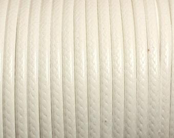 3 m - 3mm white 4558550013071 wax cotton cord