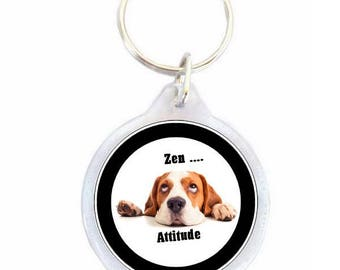 Zen Attitude Dog key chain