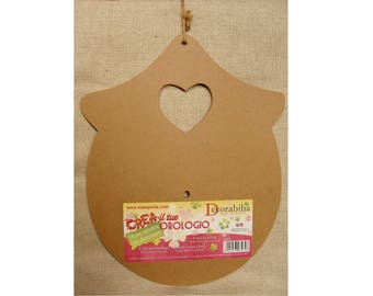 Support for MDF rounded House clock cut out heart
