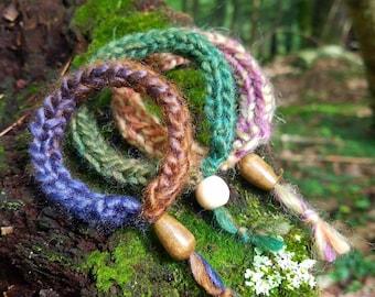 Colorful Knit Bracelet Set of 3