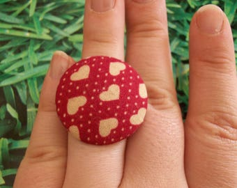 ring fabric heart