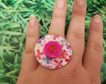 ring buttons flowers powers