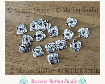 5 adorable made silver heart with love with keyhole
