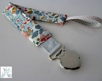 Pacifier clips heart - Betsy porcelain Liberty