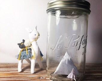 Lampe vintage esprit montagne avec origami fait main