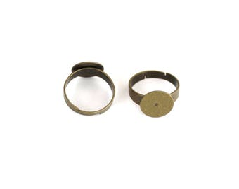 "2 rings brass ""antique bronze"""