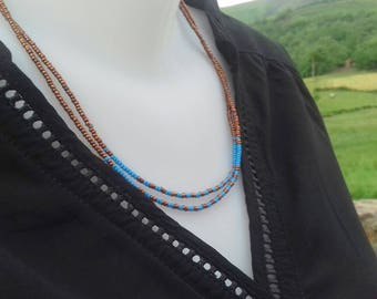 Seed beads necklace-Choker-
