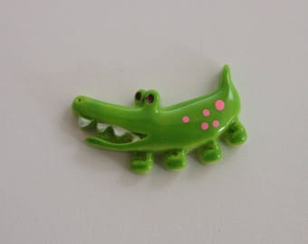 very nice small green crocodile